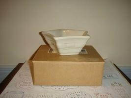 Longaberger Woven Traditions Pottery Small Star Ivory Dish MIB - $10.99