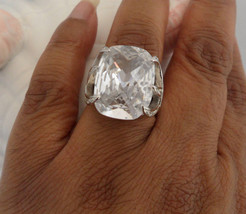 NV Ring Diamonique Ring  Faux Diamond Ring Fake Engagement Ring Big Ston... - $55.00