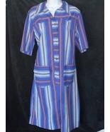 Vintage Westerner Tumbleweeds Rouge Blanc et Bleu Rayures Bouton Femmes ... - $32.38