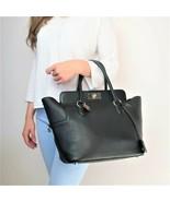 Hermes Black Swift Leather Q Square PHW Toolbox 26 Handbag - $2,999.00