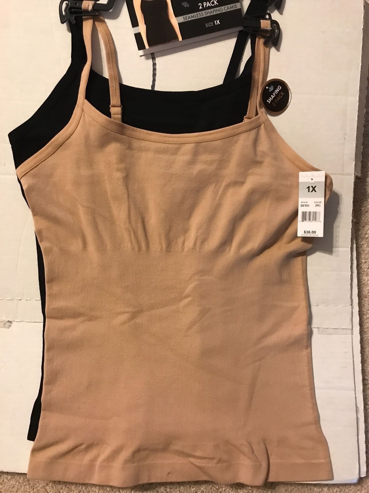 8bb79f738fc18 Delta Burke Seamless Cami Adjustable Straps and 50 similar items