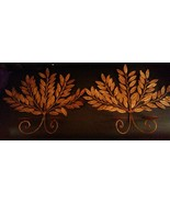 2 HOLLYWOOD REGENCY! MID CENTURY GOLD Leaf BRANCHES WALL SCONCES Early 1... - $54.45
