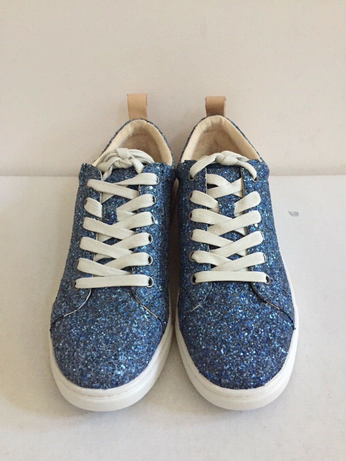 UGG KARINE CHUNKY GLITTER BLUE MULTI LACE UP SNEAKERS US 7 / EU 38 / UK 5.5 NIB image 3