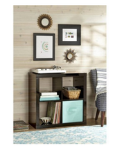 Wood Square 4-Cube Organizer Durable Home Room ... - $62.99