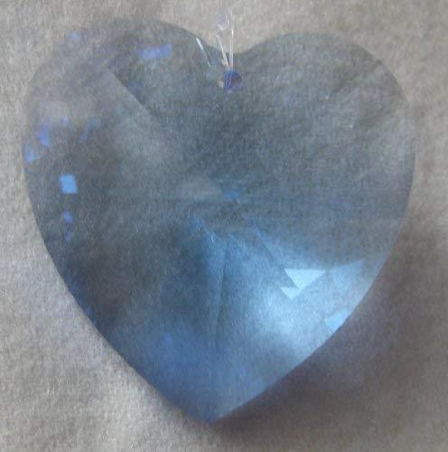 Swarovski 40mm Sapphire Large Crystal Faceted Heart Prism