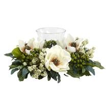 Nearly Natural 4794 Magnolia Candelabrum Silk Flower Arrangement, White - $60.30