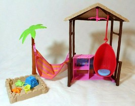 Barbie Chelsea Doll Tiki Hut Playset with Sandbox Barbie Dream House Fit... - $29.69