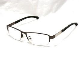 EyeBuyDirect LEWIS Men's Eyeglasses Frame, C2 Gunmetal. Semi Rimless Met... - $17.77