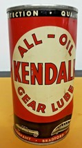 OLD BRIGHT COLOR VINTAGE NEVER OPENED KENDALL OIL GEAR LUBE ADVERTISING ... - $19.80