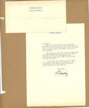 *Dorothy Lamour Signed Letter to Rudy Vallee With Original Envelope - $75.00
