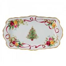OLD COUNTRY ROSES CHRISTMAS TREE SANDWICH TRAY ROYAL ALBERT NIB - $59.39
