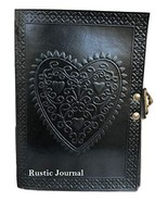 Vintage Large Heart Leather Journal Embossed Travel Diary Handmade Bound... - $24.95
