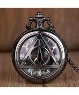Pocket Watch Pendant Quartz Classic Chain Necklace Retro Vintage Steampunk  - $14.85