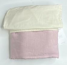 Restoration Hardware Garment-Dyed Linen Duvet Cover Twin Dusty Rose NEW ... - $179.99