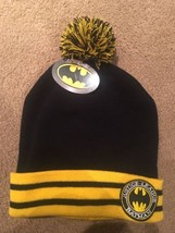 BATMAN LOGO JUSTICE LEAGUE DC COMICS POM WINTER KNIT BEANIE CAP CUFFED 2... - $9.89