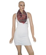 Calvin Klein Women's Wrap Scarf Black Red Gold Stripe Loop 100% Polyeste... - $13.30