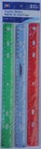 "12""/30 cm SCHOOL OFFICE RULER Plastic BeveledEd... - $2.96"