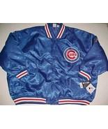 Chicago Cubs Logo MLB NL Central Men Big Tall Blue Red Baseball Jacket 6... - $118.79