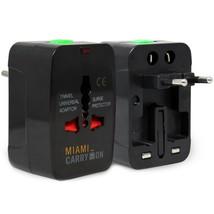 Miami CarryOn International Travel Adapter, Worldwide AC Charger (UK/EU/... - $7.91