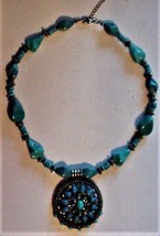 Vintage Turquoise? Beads Necklace EC - $50.00
