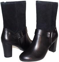 """❤️ HUSH PUPPIES Waterproof Black Leather 3"""" Heel Zip Boots 9.5 Wide NEW!... - $33.24"""