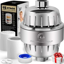 15 Stage Shower Filter with Vitamin C for Hard Water - High Output Showe... - $62.19