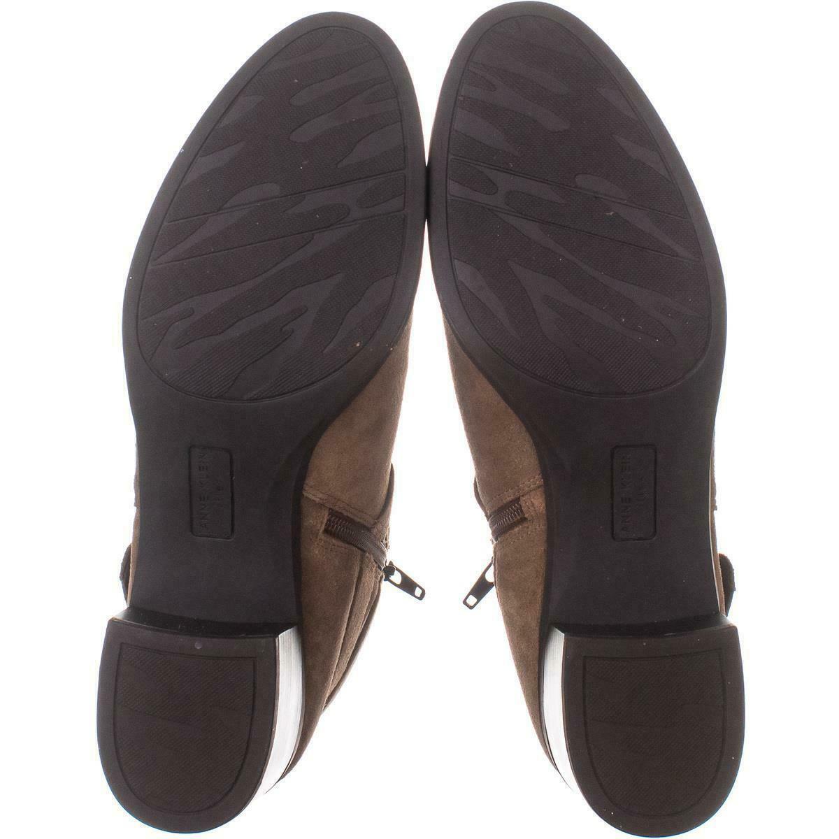 anne klein javen bottines talon bloc 479 marron 10 us boots. Black Bedroom Furniture Sets. Home Design Ideas