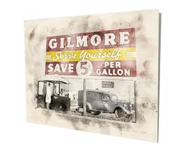 Old Gilmore Gasoline Service Station  Art Design 16x20 Aluminum Wall Art - $59.35
