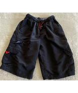 Plugg Boys Black Cargo Shorts Pockets Elastic Waist 10 - $8.33