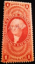 US R68c : $1 Foreign Exchange, red, perforated used Fine - $6.99