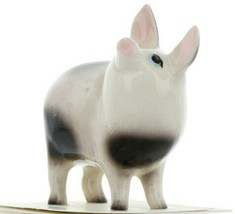 Hagen Renaker Miniature Pig Black and White Papa Ceramic Figurine