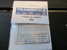 Trainworx Stock # 602 Freight Car Ladders with Drill Template # 80 Drill N-Scale image 5