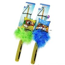 Cat Teaser Wand with Catnip Feather Toy Exerciser for Cats and Kitten In... - $13.85