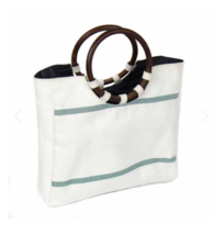 NWT Recycled fire hose purse tote wood handles Recycled - $45.00
