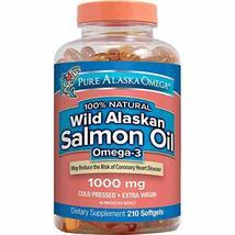 Pure Alaska Omega-3 Wild Alaskan Salmon Oil 1000mg 210 Softgels (Pack of... - $68.99