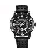 Benyar Men's Leather Analog Quartz Wrist Watch BY-5150M (Black) - $40.00
