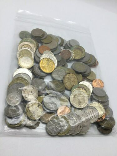 Mixed World Foreign Coin Assorted Grab Bag Lot 1.1 LBS