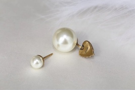 Authentic Christian Dior 2019 CRYSTAL HEART DIOR TRIBALES PEARL SINGLE EARRING image 4