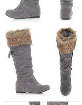 Women's Designer Style Warm Fur Lined Winter Fashion Boots image 5