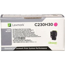 Lexmark Unison Toner Cartridge - Magenta - Laser - High Yield - 2300 Pages - $127.21