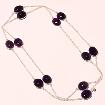 """African Amethyst Cab's Handmade Fashion Ethnic Jewelry Necklace 36"""" US-595 - $5.99"""
