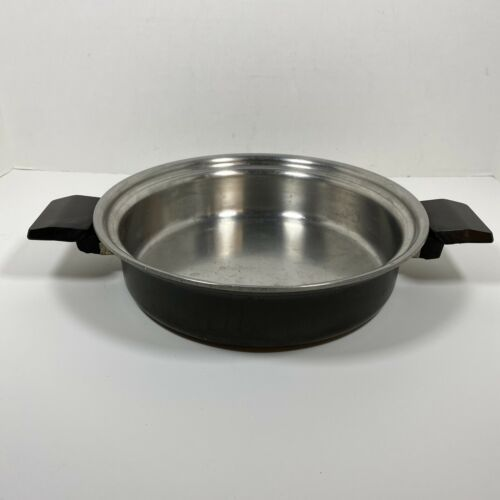 """MIRACLE MAID West Bend Anodized Aluminum Stainless Steel 9.5"""" Skillet No Lid - $69.25"""