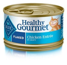 Blue Healthy Gourmet Adult Flaked Chicken Wet Cat Food 3-Oz Pack Of 24 - $30.45