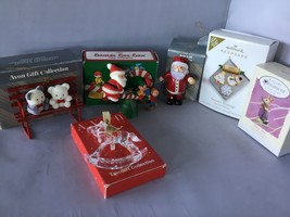 LOT OF 6 CHRISTMAS ORNAMENTS AVON HALLMARK L02 - $14.84