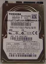 "New 40GB 2.5"" 9.5MM SATA Drive Toshiba MK4034GSX HDD2D39 Free USA Shipping - $49.00"