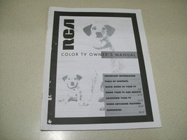 Vintage 1993 RCA Color TV Owner's Manual 1Q57 368-05A  Printed in USA - $7.92