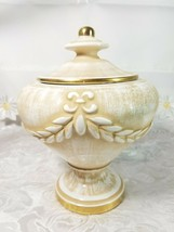 "VINTAGE Porcelain Biscuit Candy Pot Jar Urn Covered Vase 7 3/4"" Tall x 6 1/4"" image 1"