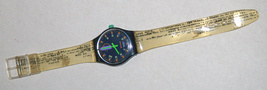 SWATCH Stop SSB100 Jess' Rush 1993 Swiss Made Wristwatch Rubber Strap Vintage image 5