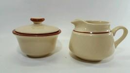Franciscan Chestnut Weave Creamer and Lidded Sugar Bowl Lot - $12.60