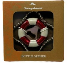Tommy Bahama Nautical Red White Life Preserver Metal Bottle Cap Opener B... - $17.82